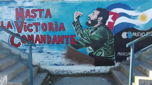 Fidel Castro wall painting another form of streetart